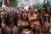 Ind�genas brasile�os finalizan nueva protesta contra hidroel�ctrica