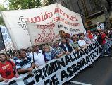 Marcha contra la criminalizaci�n de la protesta