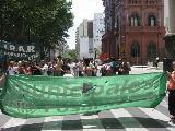 Jornada de protesta de los Estatales en Rosario
