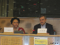 Piedad C�rdoba intervino hoy 30 de noviembre de 2011 en el Parlamento europeo