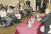 Dirigentes campesinos y de pueblos originarios con el STJ