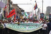 """La """"Gran marcha nacional del agua"""" llegó a Lima"""