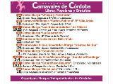 Cronograma de Corsos y Carnavales en Cordoba