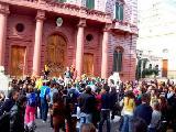 El lunes 6, corte de calle frente al palacio municipal