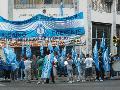 Protesta de los trabajadores del super Lorena