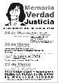 24, 28 y 29 de Marzo... en Rafaela también construimos Memoria