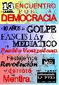 Acto político-cultural a 10 años del golpe fascista en Venezuela en La Toma