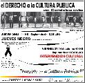 Intervención: todos por una cultura pública!!