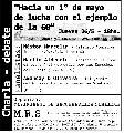 """""""Hacia un 1º de mayo de lucha con el ejemplo de la 60"""""""