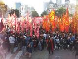 Masivo acto del Frente de Izquierda y de los Trabajadores en la Plaza de Mayo