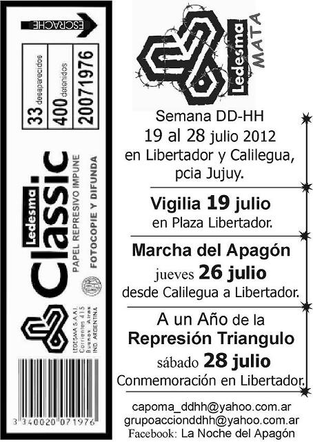Jujuy: Marcha Apagón...