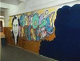 Censura sobre un mural pintado por alumnos