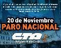 20 de Noviembre: Paro Nacional