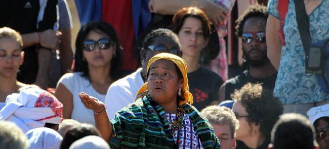 Cuba: L�deres mayas ...