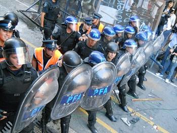 Represión policial e...