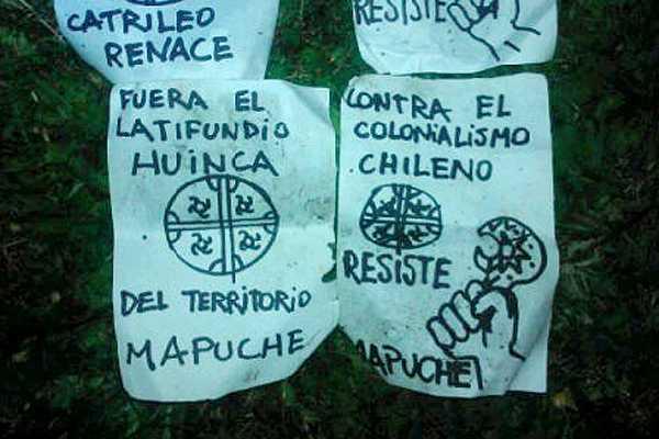 Cartel mapuche...