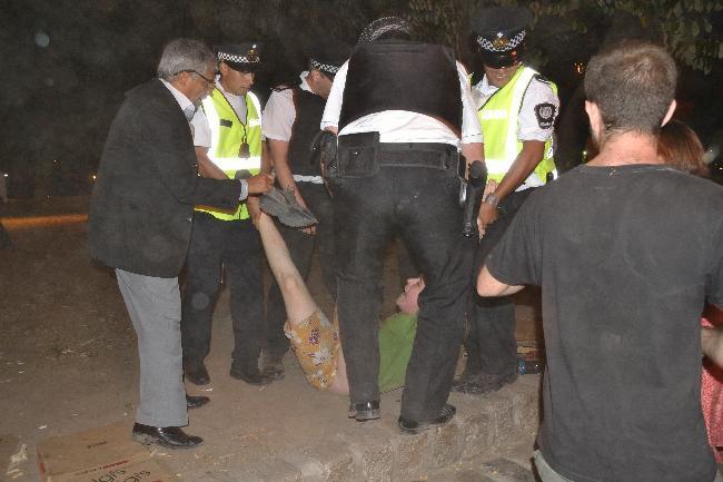 Detenciones violenta...