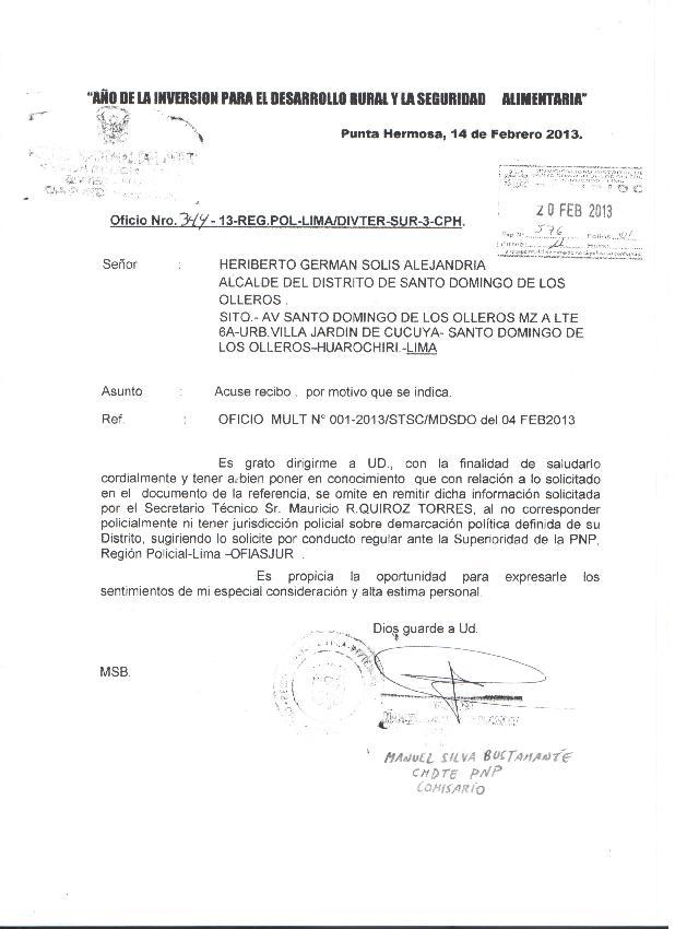 Perú: Denuncian a Co...