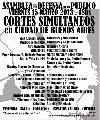 15 cortes simult�neos en Ciudad de Buenos Aires