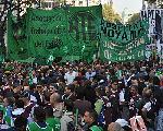 La CTA march� en repudio a la represi�n en el Borda