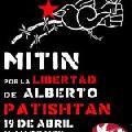 Convocatoria tuitera para el 19/4/2013, por libertad de preso pol�tico Alberto Patisht�n