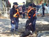 Una de las dos militante detenida