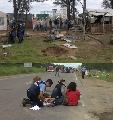 Desalojan dos puestos en el bloqueo de Malvinas Argentiinas