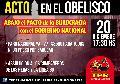 Acto en el Obelisco - 20 de Diciembre 17:30hs
