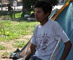 Acampe qom en Plaza de Mayo