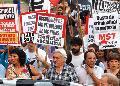 Marcha por la absoluci�n de los petroleros de Santa Cruz