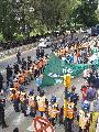 Gran operativo de seguridad contra los trabajadores del INTI