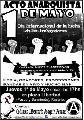 1� de Mayo, acto anarquista en plaza Libertad
