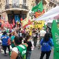 Paro en Rosario: Cortes y marcha