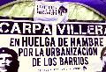 Cuarta semana de huelga de hambre en la Carpa Villera