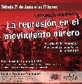 Charla-debate: La represi�n en el movimiento obrero