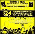 Adhesi�n a la convocatoria a la Marcha del 24/7 contra la criminalizaci�n de la protesta