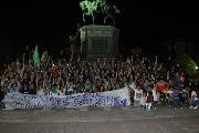 Movilización en La Plata por el boicot al Encuentro Nacional de Mujeres