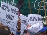 Acampe en la Plaza de los Dos Congresos por el 82% m�vil