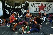 Mar del Plata: Acampe por tiempo indeterminado