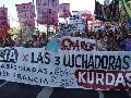Marcha por militantes kurdas asesinadas en París