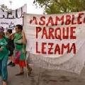 El gobierno porte�o suspendi� el enrejado en Parque Lezama hasta el 23 de febrero