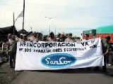 Durante meses se sostuvo el piquete frente a SanCor Rosario