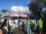 La CTA march� en defensa de la Revoluci�n Bolivariana de Venezuela