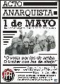 Acto Anarquista 1º de Mayo - 17 hs.  Plaza Libertad
