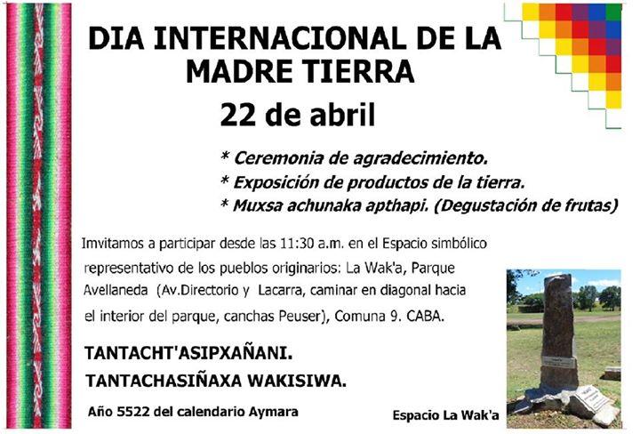 Invitación A Celebración Día De La Madre: Invitación Celebración Día De La Madre Tierra