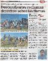 Descendientes reclaman derechos sobre sus tierras