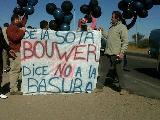 La Justicia orden� que cese el da�o ambiental del enterramiento de basura en Bouwer