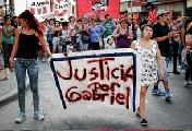 Movilizaci�n por Gabriel Sena en Florencio Varela