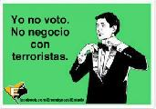 �Por qu� no voto? Porque no soy un criminal