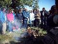 Ceremonia indígena en territorio matancero